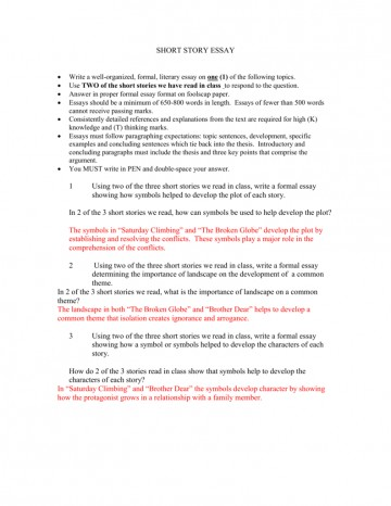 013 Essay Example Short Stories In Essays 007303959 1 Impressive Fiction Analysis Examples Story Format 360