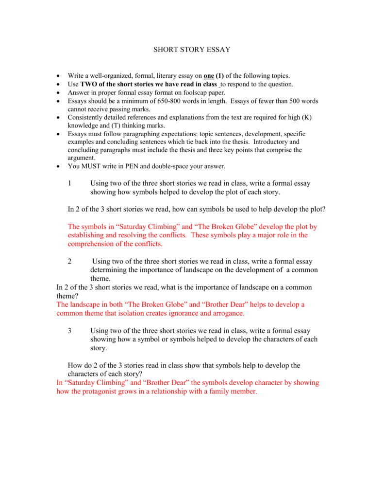 013 Essay Example Short Stories In Essays 007303959 1 Impressive Fiction Analysis Examples Story Format Full