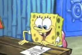 013 Essay Example Spongebob Writing His Help For Hours Maxresde Gif The Rap Font Surprising Meme 320
