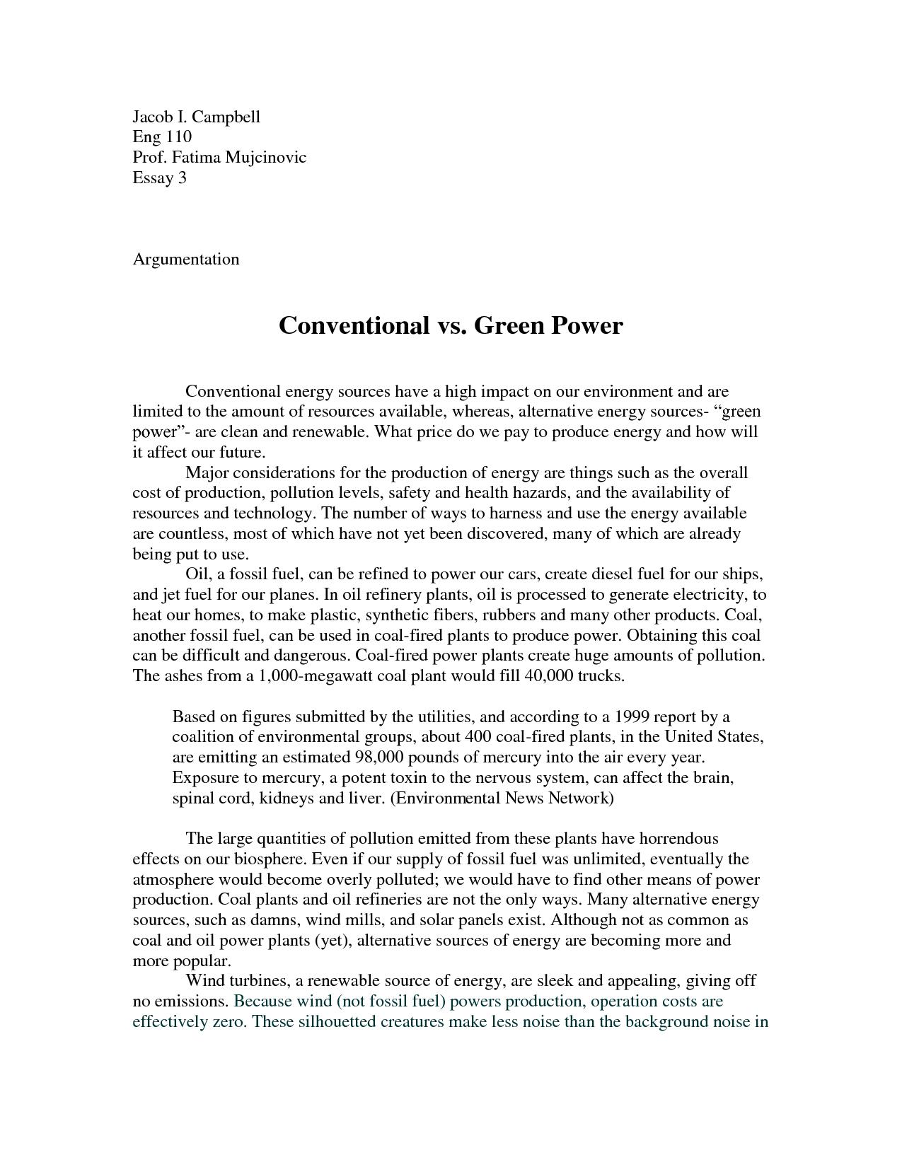 renewable energy essay topics