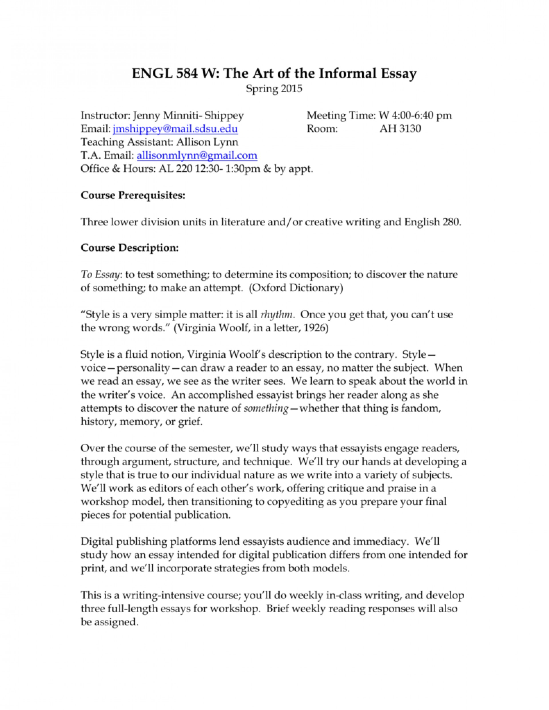 013 Essay Example Virginia Woolf Essays 008036401 1 Unusual Online The Modern Analysis On Self 1920