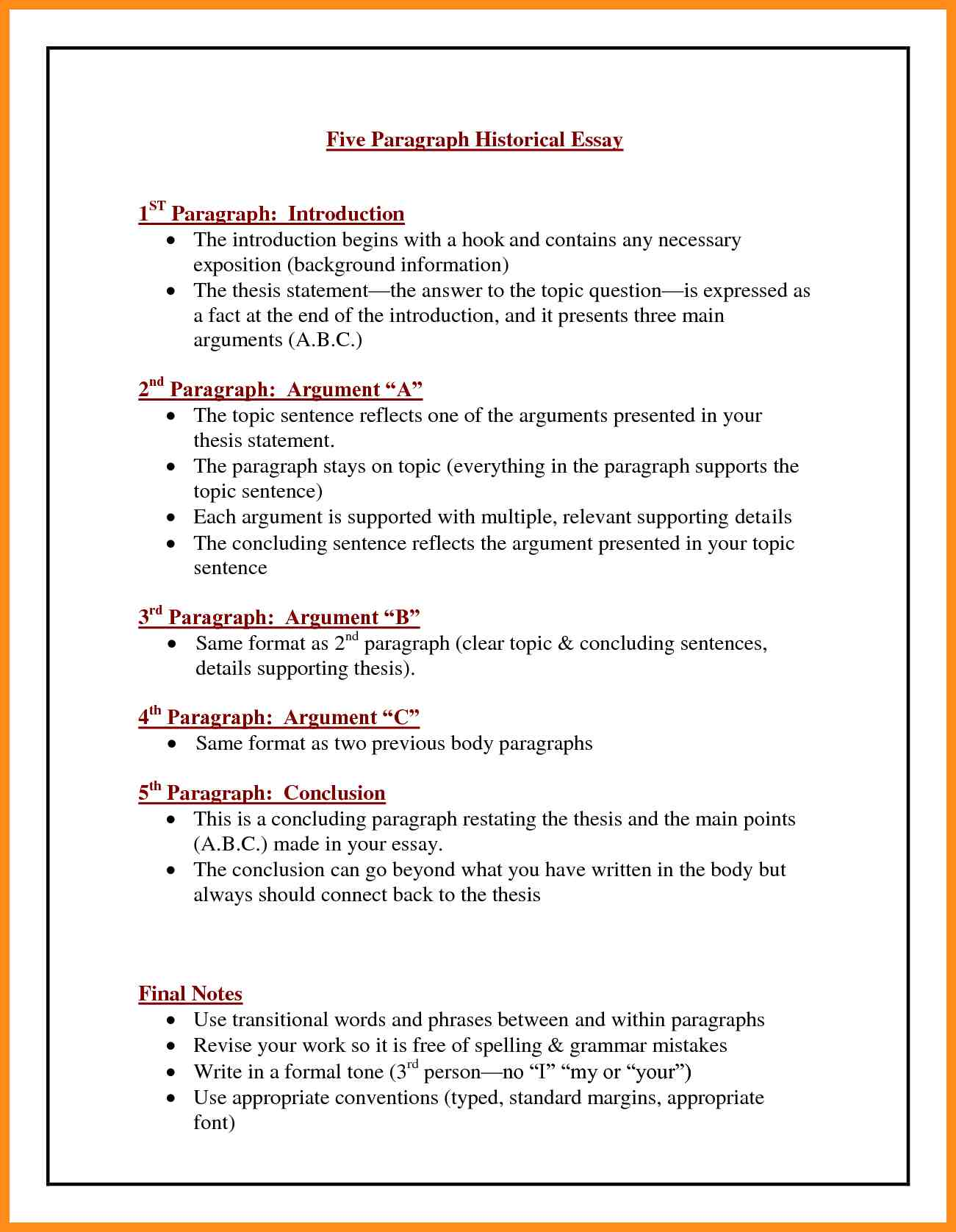 Interview thesis statement