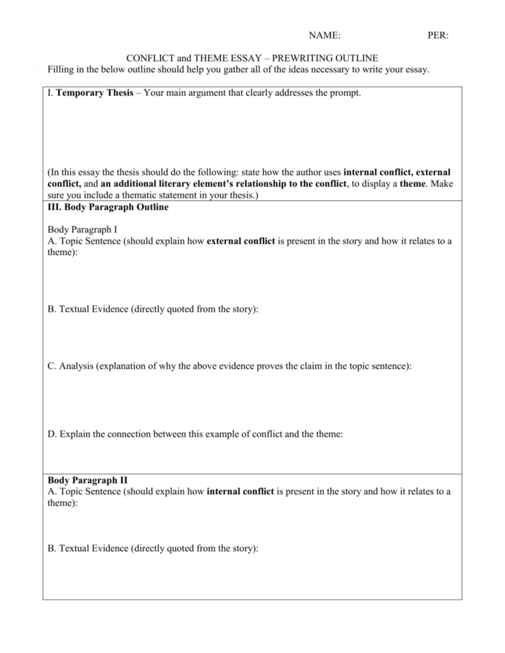 013 Essay Outline 008002500 1 Impressive Narrative Worksheet Writing Graphic Organizers Thematic Organizer 1920
