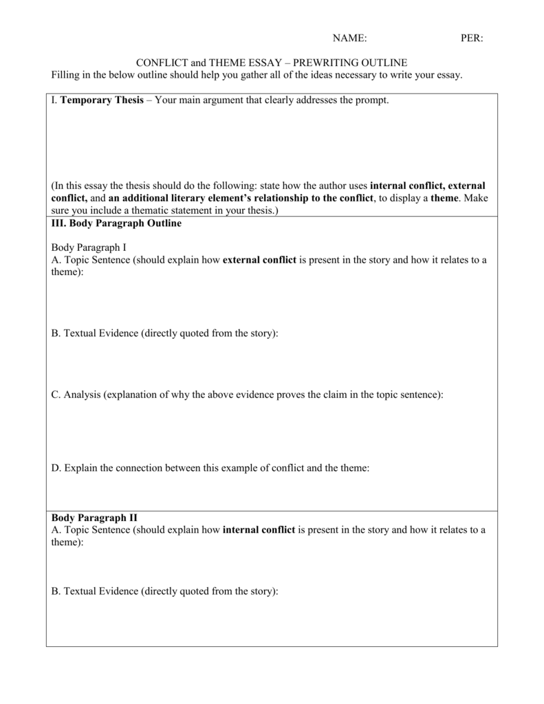 013 Essay Outline 008002500 1 Impressive Narrative Worksheet Writing Graphic Organizers Thematic Organizer Full