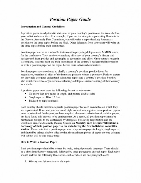 Research/ position paper topic internationalism essay