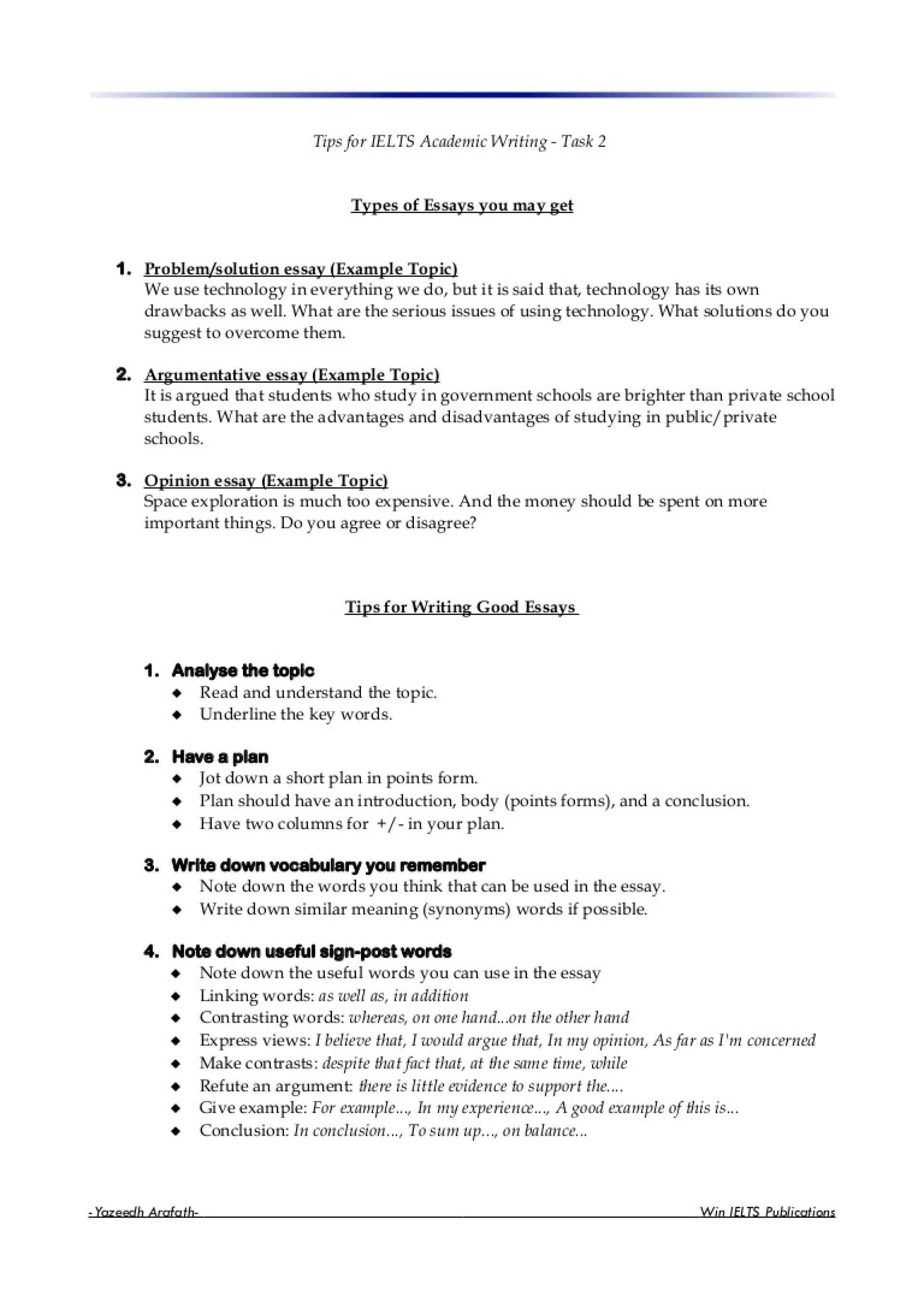 013 Essay Writing For Ielts Pte Toefl List Of Synonyms Writingtask2 Lva1 App6891 Thumbn Words Unique In Argumentative Firstly An 1920