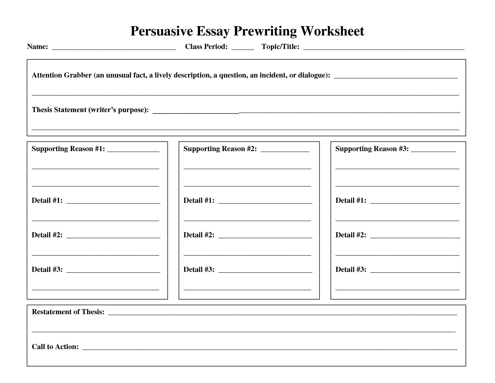 essay writing worksheets high school
