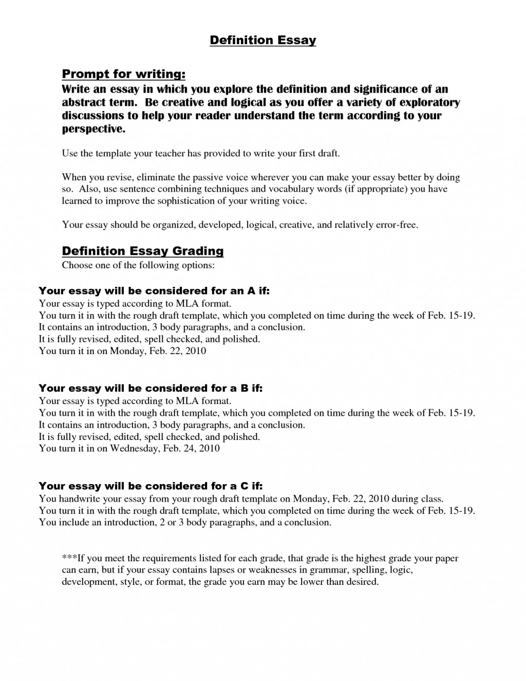 013 Example Of Definition Essay Ideas Cover Letter Writing Examples Great Outline Incredible About Love Success Beauty Large