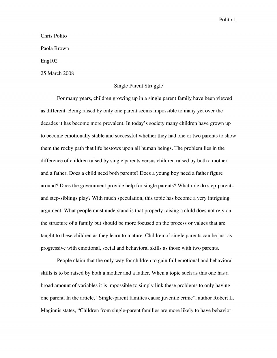 013 Expository Essay Sample 2 Format Fascinating Mla Example Introduction Examples Apa 960