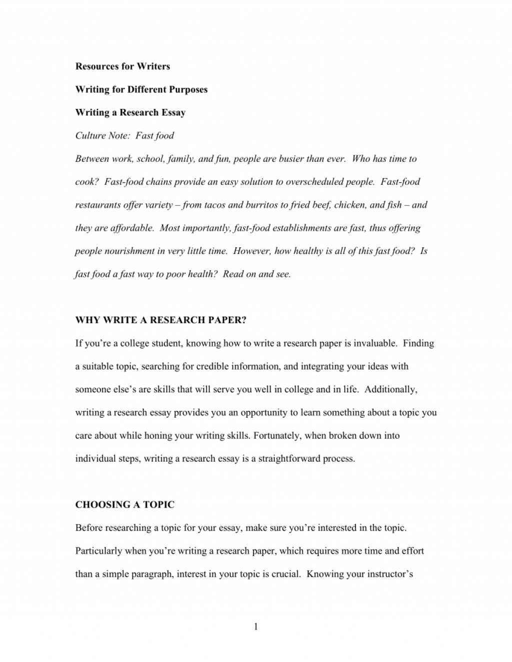 013 Fast Food Essay Example Stunning Topics Argumentative Introduction Titles Large
