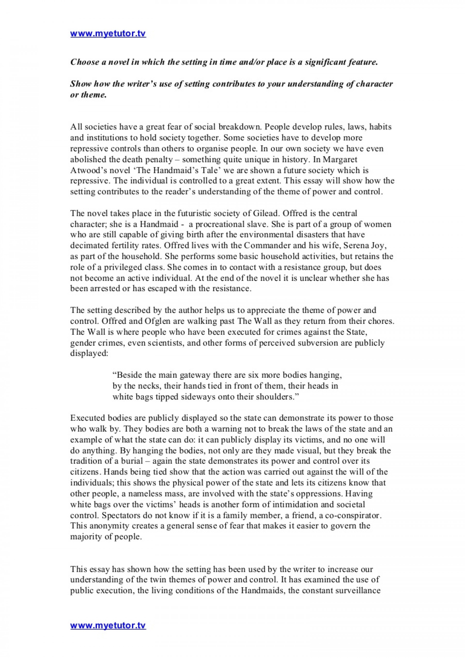 013 Fear Essay Example Thehandmaidstale Essayonsetting Phpapp02 Thumbnail Astounding Ideas In English Prompt 1920