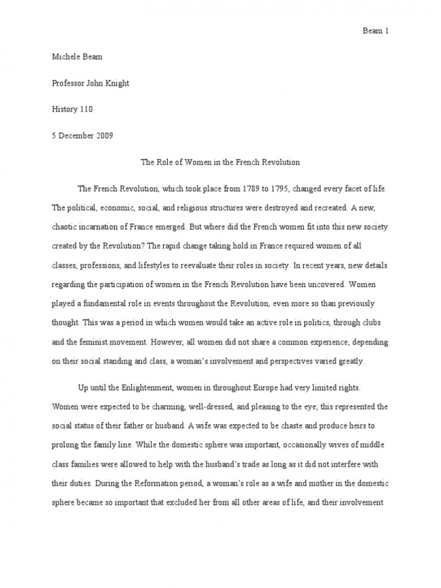 013 French Revolution Essay Phenomenal Outline Titles Causes Conclusion 868