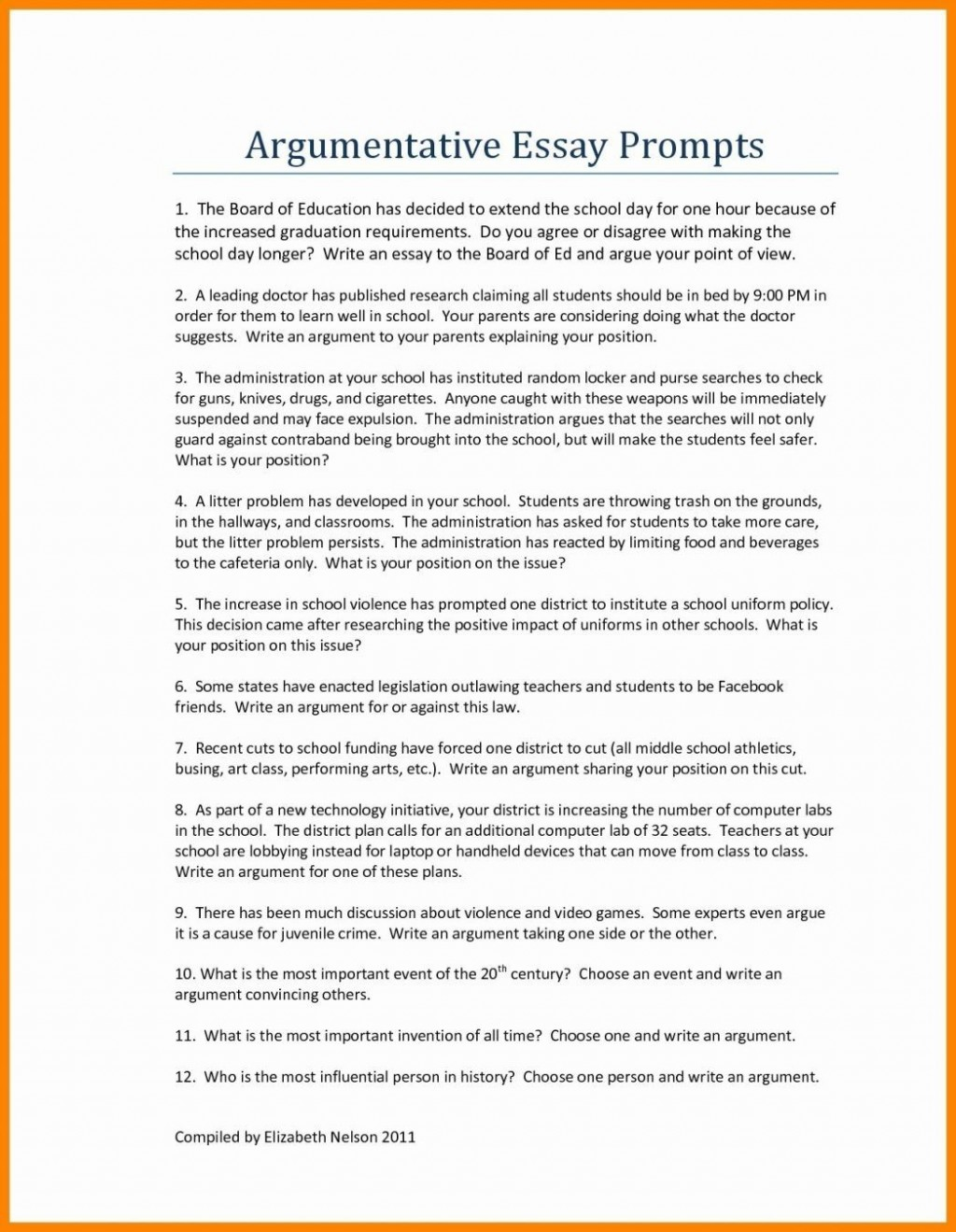 013 Graduation Essay Topics Excellent High School Research Paper Writing Prompts Large