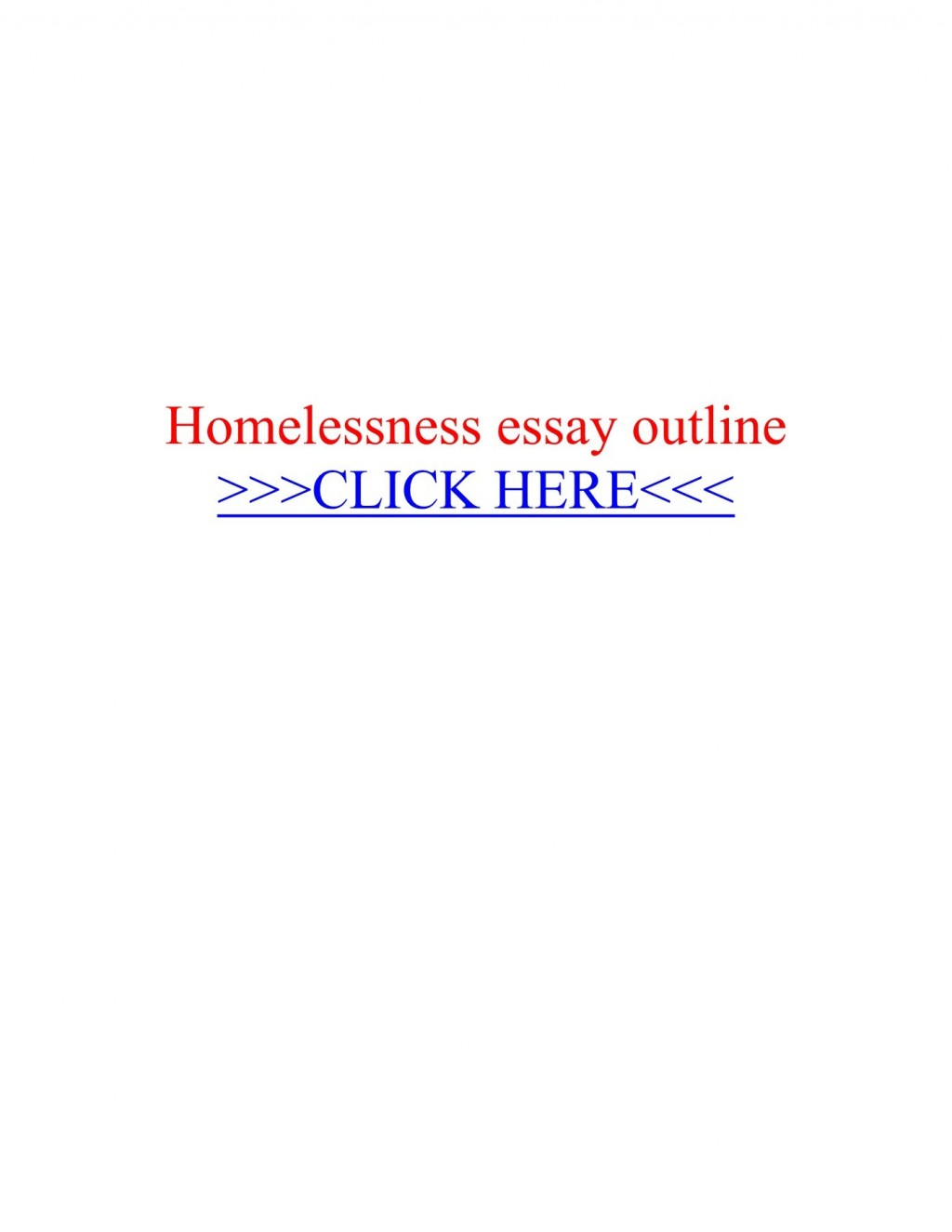 013 Homelessness Essay Beautiful Topics Outline Conclusion Large
