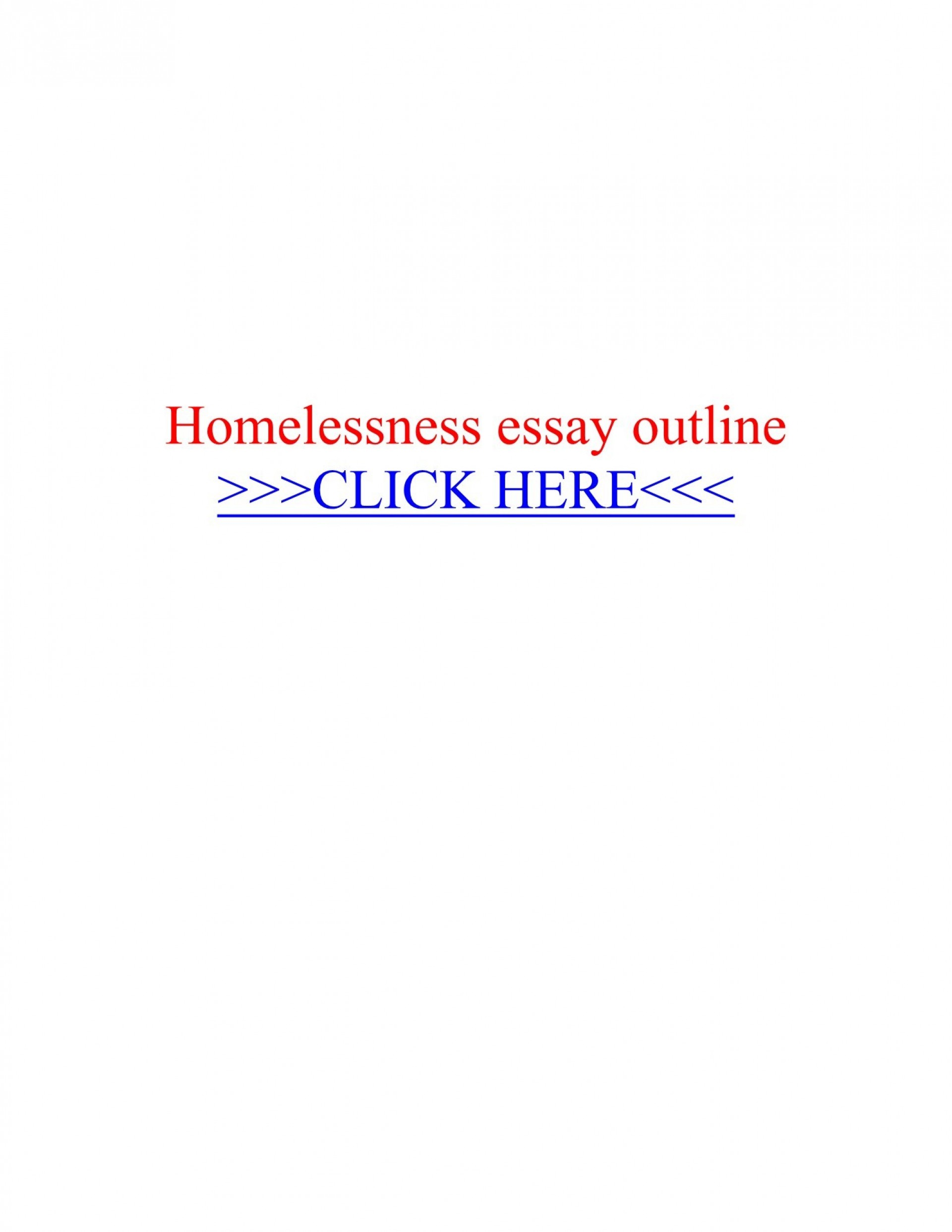 013 Homelessness Essay Beautiful Topics Outline Conclusion 1920