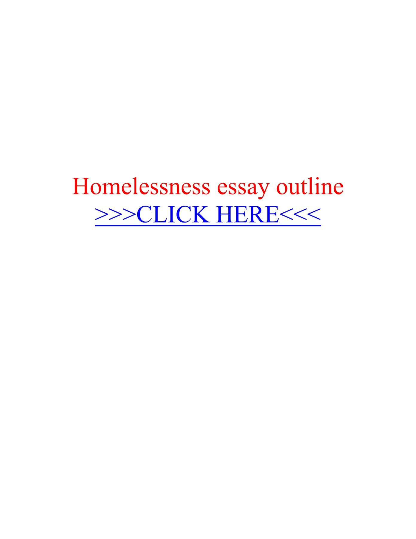 013 Homelessness Essay Beautiful Topics Outline Conclusion Full