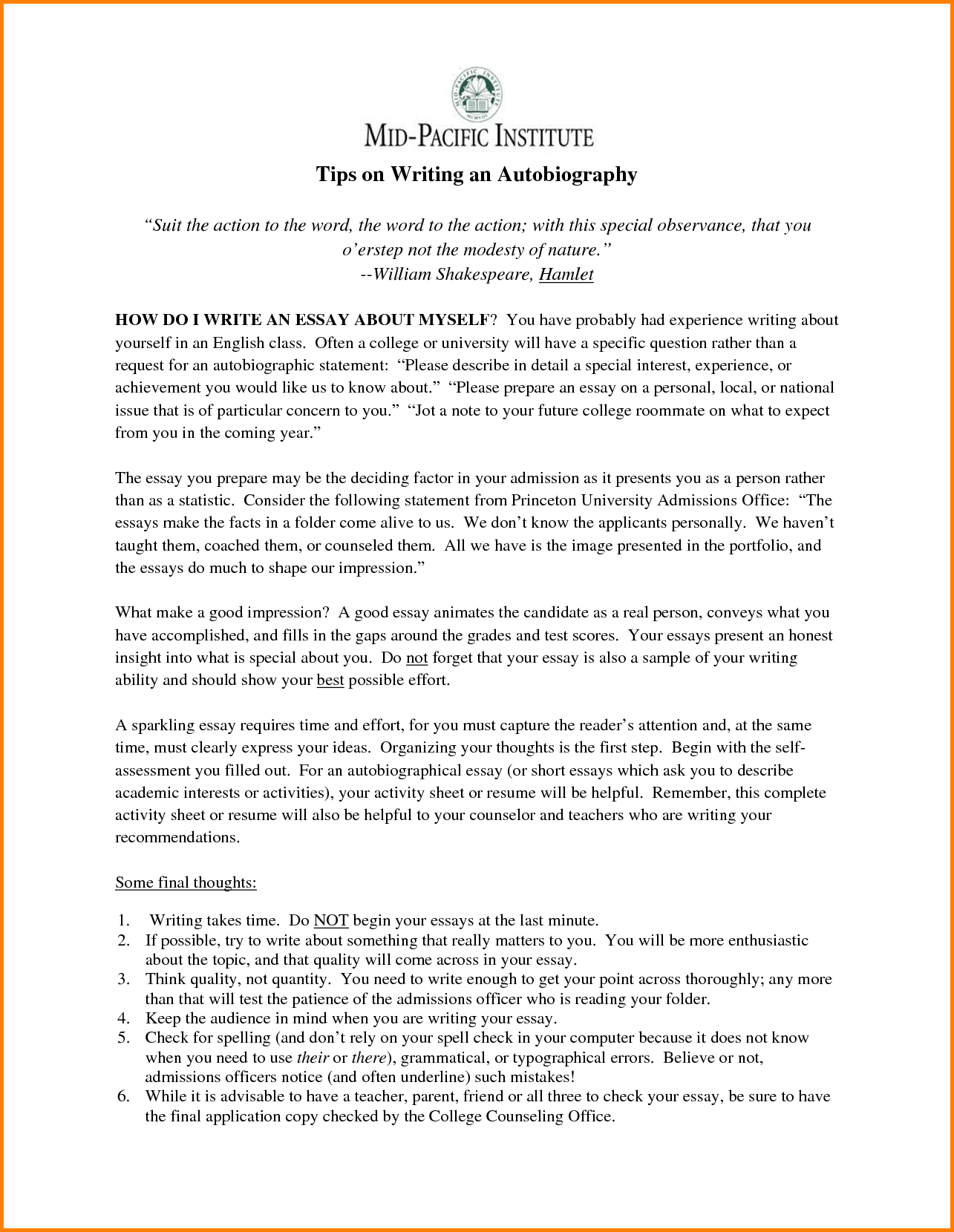 013 How Do You Start An Essay Example To College Application About Yourself Starting L Singular Autobiography For Introduction Write Examples Full