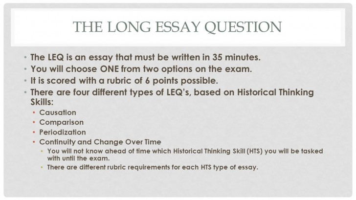 013 How Long Is An Essay Thelongessayquestion Staggering Should Answer Be Question On A Test 728