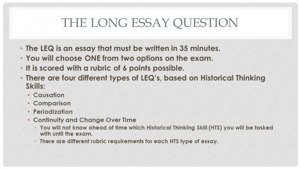 013 How Long Is An Essay Thelongessayquestion Staggering A College Usually Introduction Paragraph For Should Question Response Be 960