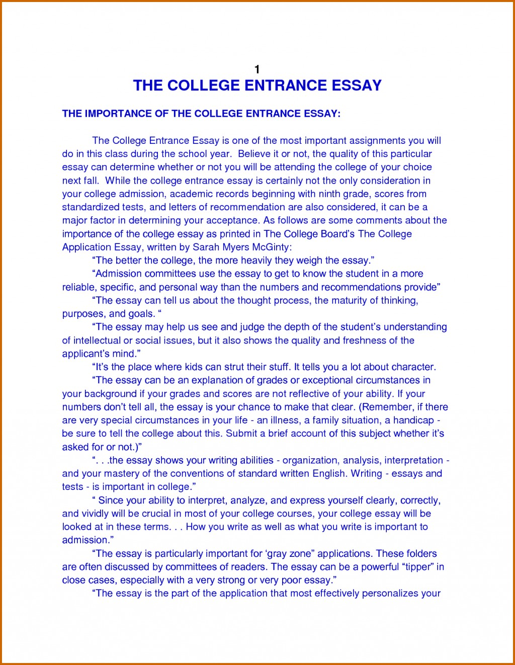 013 How To Write Autobiography For College Essay Surprising Example Format Students High School Large