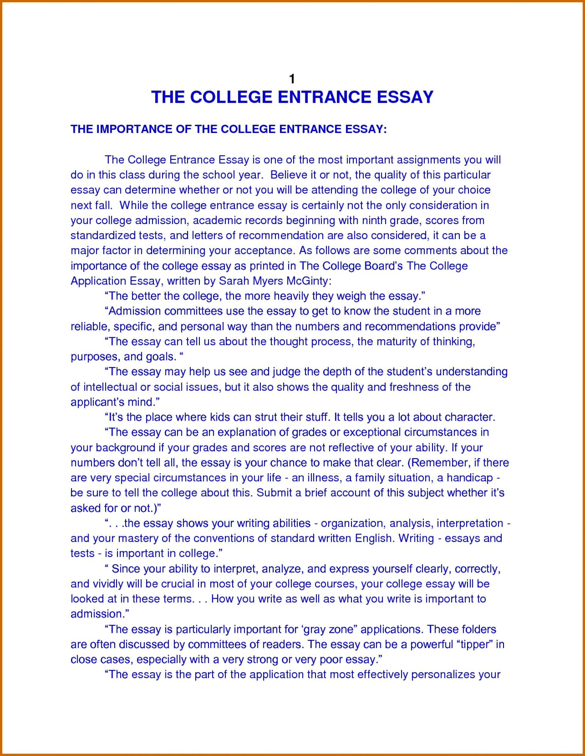 013 How To Write Autobiography For College Essay Surprising Example Format Students High School 1920