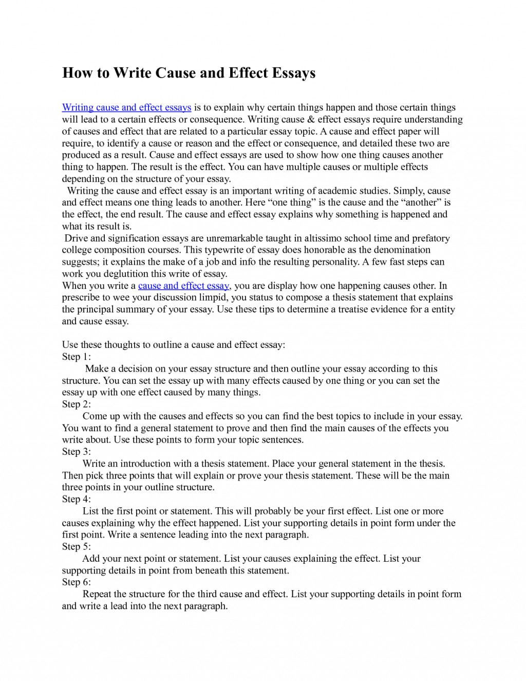013 How To Write Cause And Effect Essay Example Writing Course Of The Employee Students Can Responding Stunning Wondrous Introduction Pdf Large