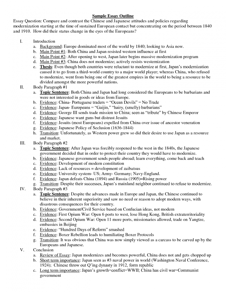 013 Ideas Collection Sample Essay Outlines Epic Process Forteforic Of How To Write Top A Ielts Thesis Statement For Analysis Full