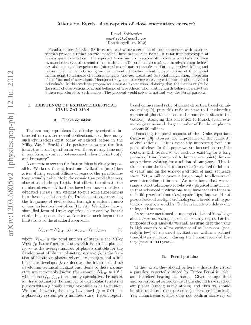 013 Largepreview Essay Example On Aliens In Marvelous Earth Full