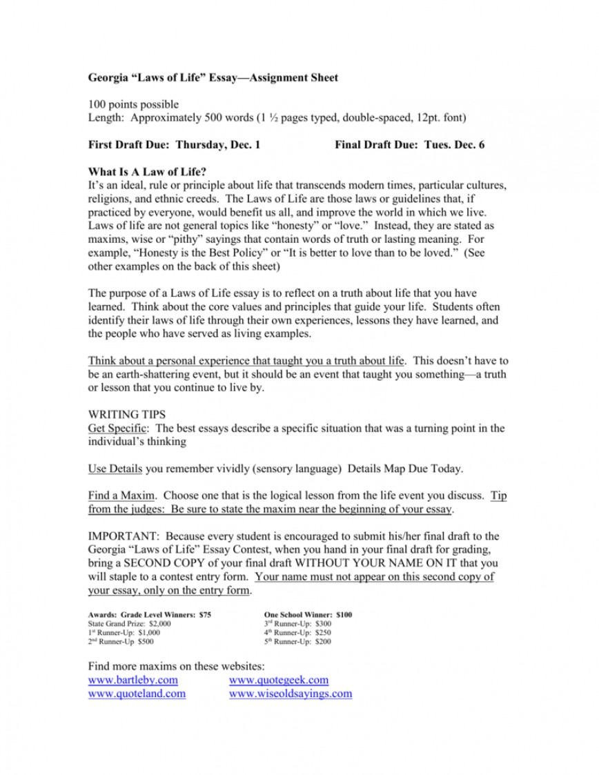 013 Life Lesson Essay Example 008032151 1 Formidable Valuable Learned In Titles