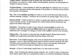 013 Literary Essay Example Fcat Vocab Page Stirring 4th Grade Analysis