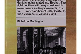 013 Montaigne Essays Summary Essay Example Michael Seigneur Michel Of On Experience Astounding Idleness Cannibals