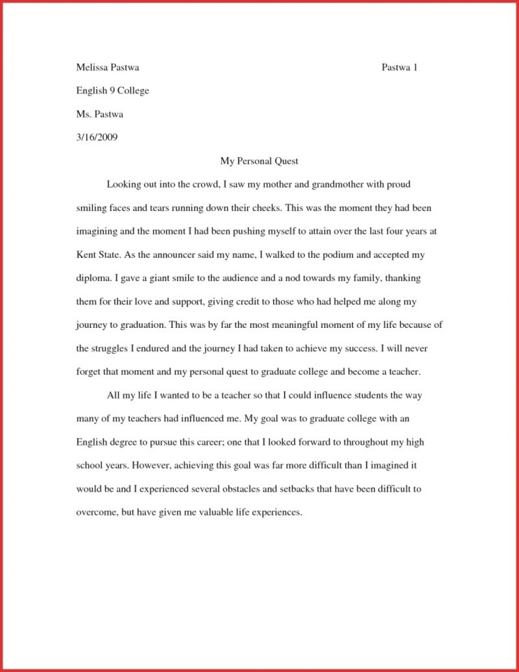 013 My Name Essay Example English Books Essays On Throughout College Examples Stunning Conclusion Esperanza Large