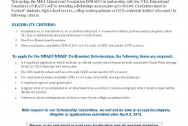013 No Essay Scholarships For High School Seniors Example Scholarship Application National Restaurant Association Page 1 Rare 2018 Short