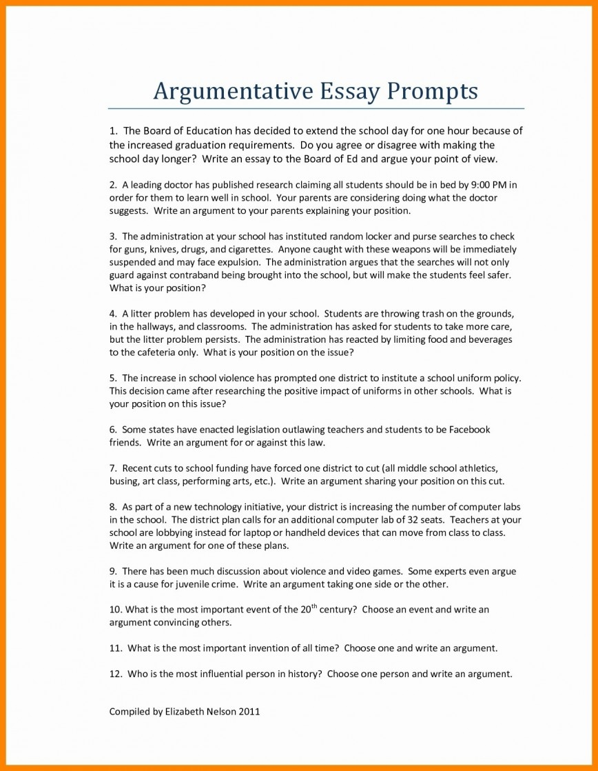 013 Personal Narrative Essay Examples Middle School Example Of Creativeve About Love Printables Corner W On Abortion For High Pdf Education College Debate Free Unbelievable Argumentative Sample Outline