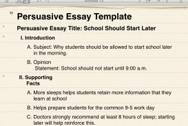 013 Persuasive20essay20example2 Why School Should Start Later Persuasive Essay Dreaded Days In The Morning