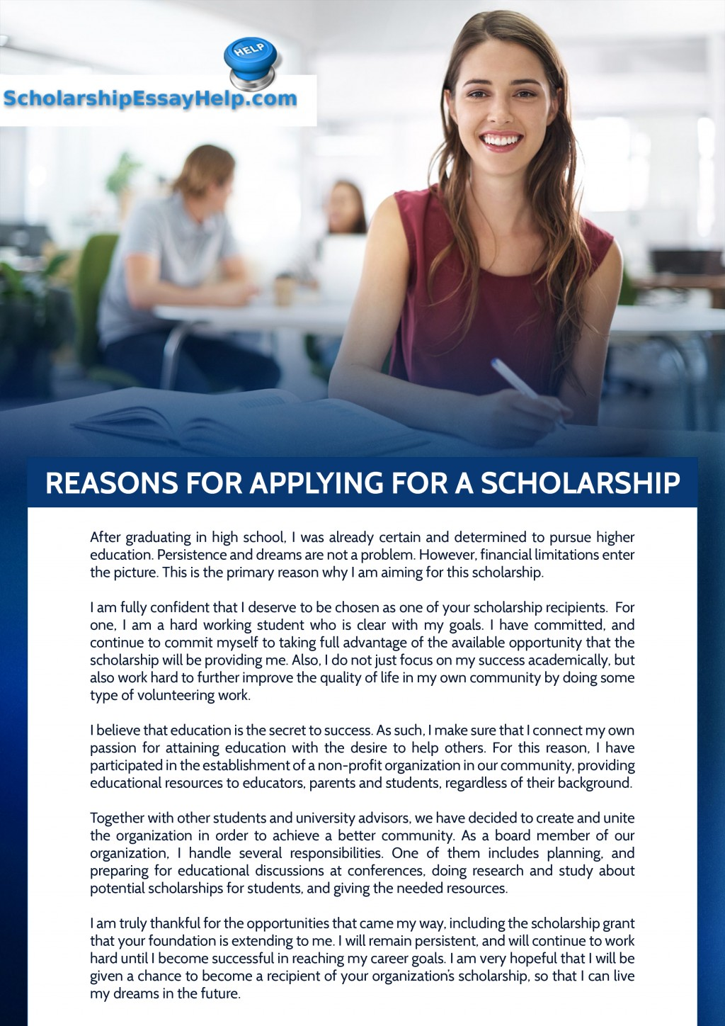 013 Reasons For Applying Scholarship Why I Deserve This Essay Top How To Write Pdf Sample Large
