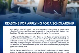 013 Reasons For Applying Scholarship Why I Deserve This Essay Top How To Write Pdf Sample
