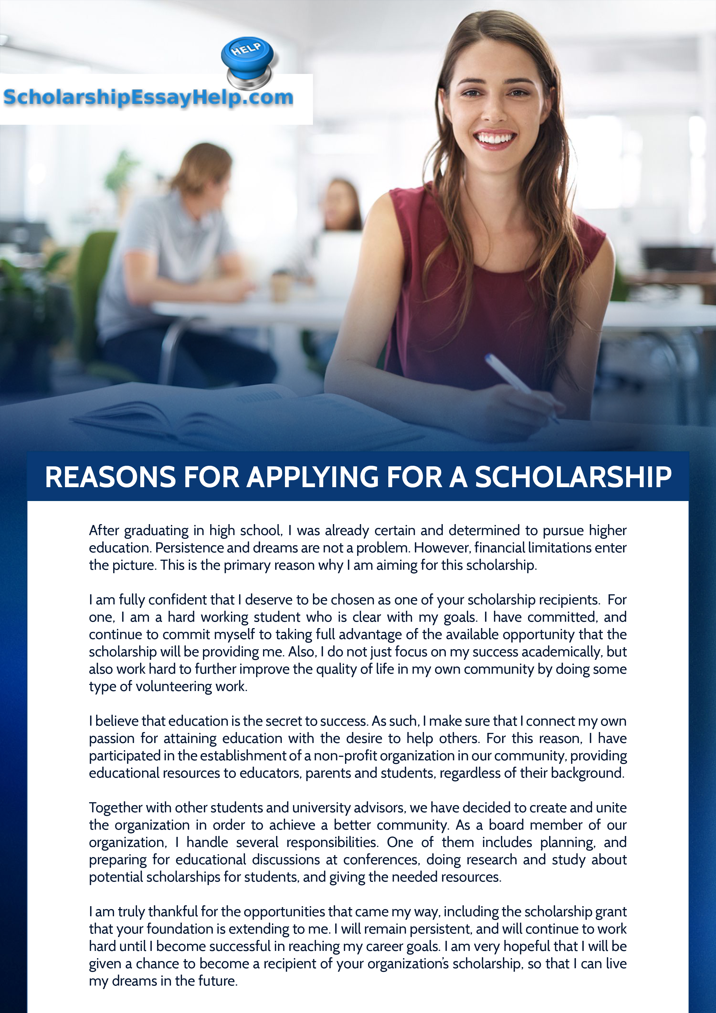 013 Reasons For Applying Scholarship Why I Deserve This Essay Top How To Write Pdf Sample Full