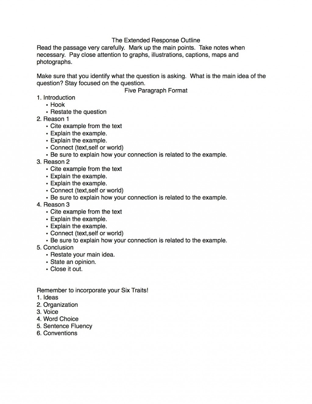 013 Response Paper Outline Critical Essay Fantastic Example Good Introduction Large