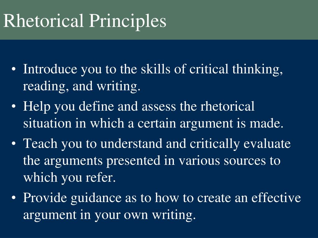 013 Rhetorical Principles L Essay Example Dreaded Definition Analysis Meaning Full