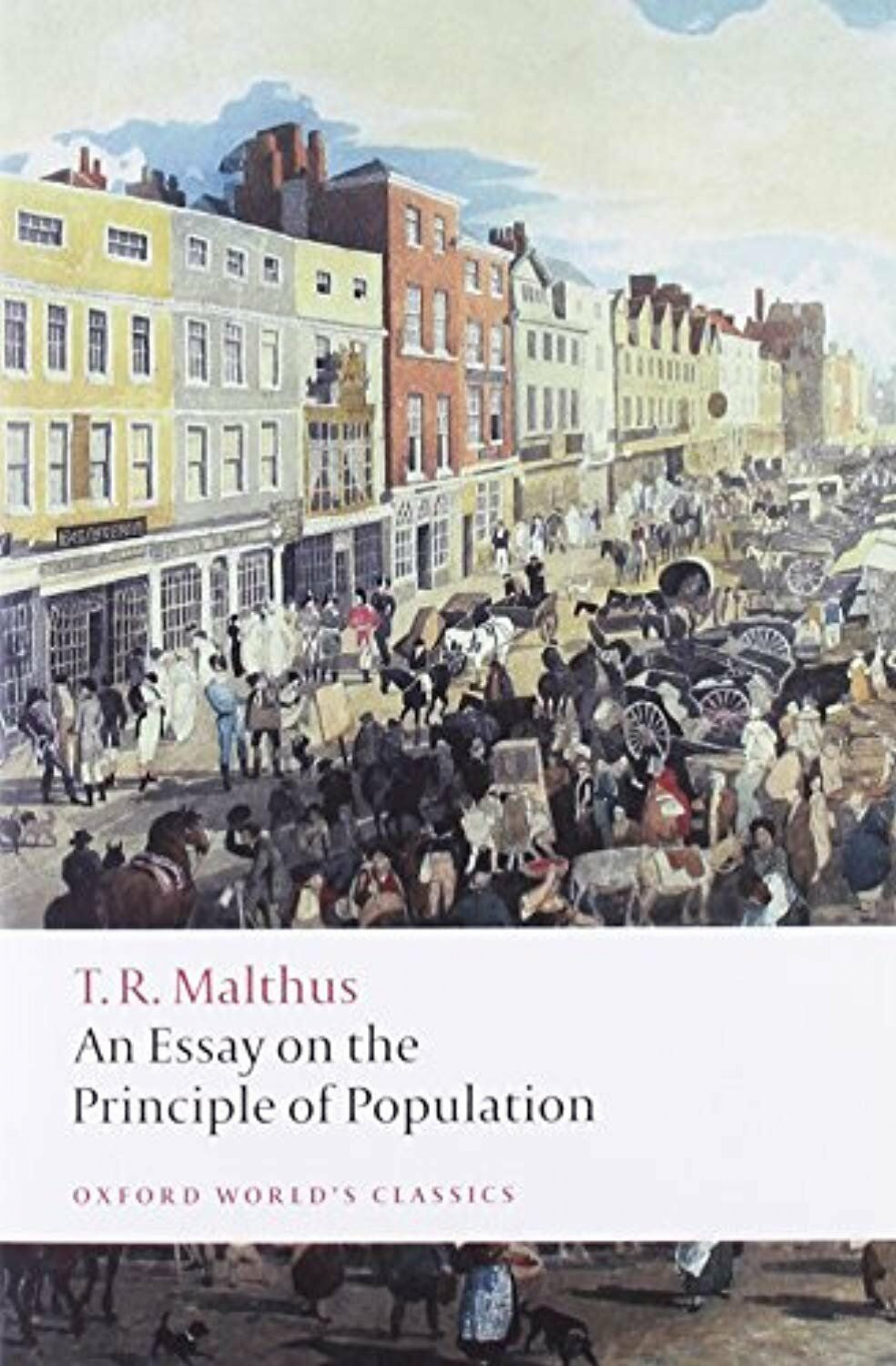 013 S L1600 Thomas Malthus An Essay On The Principle Of Population Marvelous Summary Analysis Argued In His (1798) That 1920