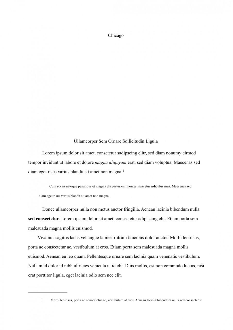 Chicago essays