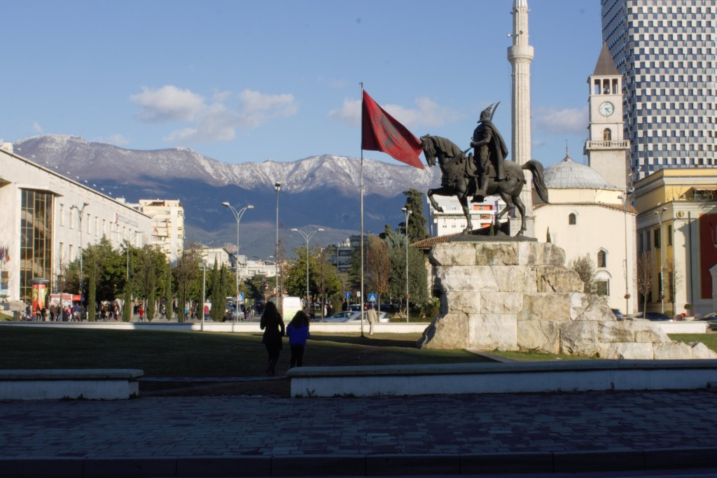 013 Statue N Flag Essay Example Tourism In Unbelievable Albania Large