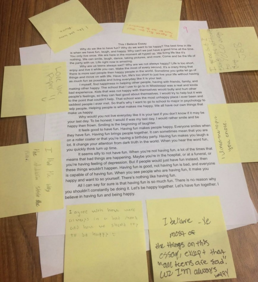 013 This I Believe Essay Ideas Outstanding