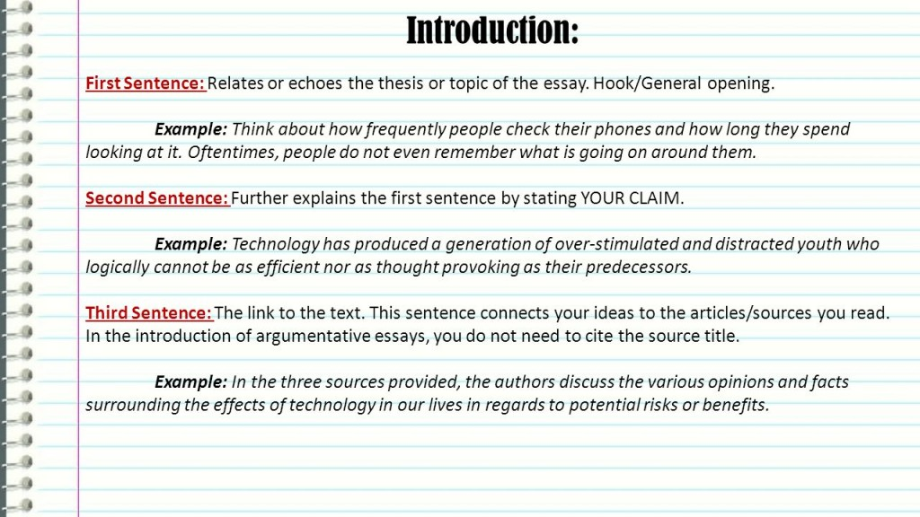 013 What Is Hook In Essay Example Excellent A An Examples Good Argumentative Large