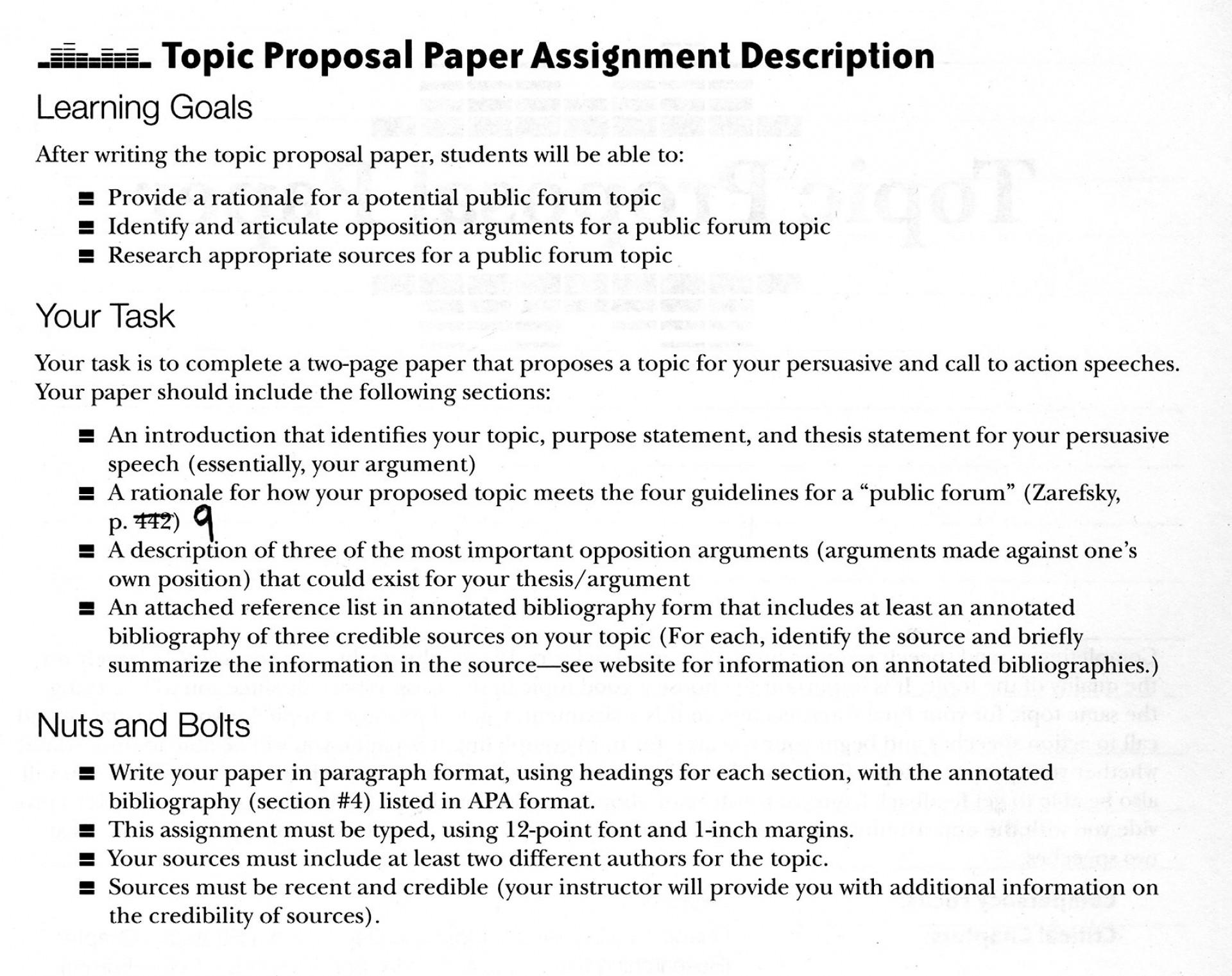 013 What Is Proposal Argument Essay U003d Excellent A 1920