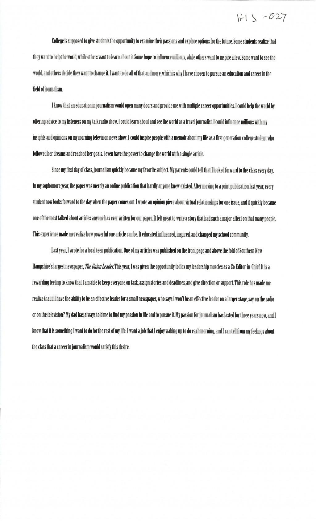 013 Winning Scholarship Essay Examples Example Alexa Serrecchia Stupendous College Pdf Large