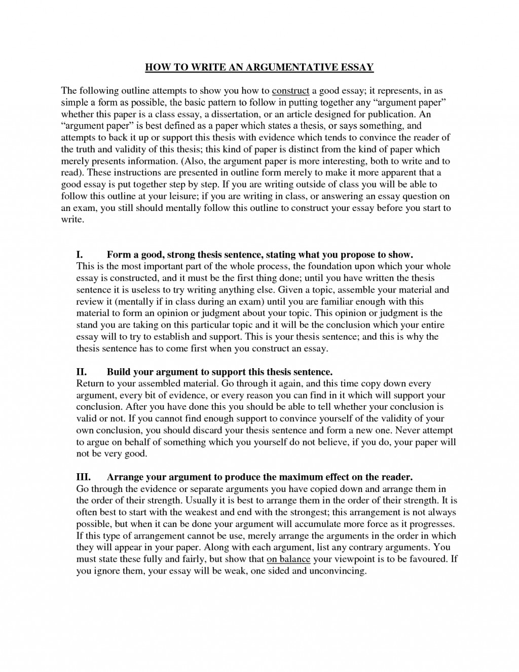 013 Writing An Argument Essay Example Outstanding Sample Argumentative Pdf Download Ppt Step By Large