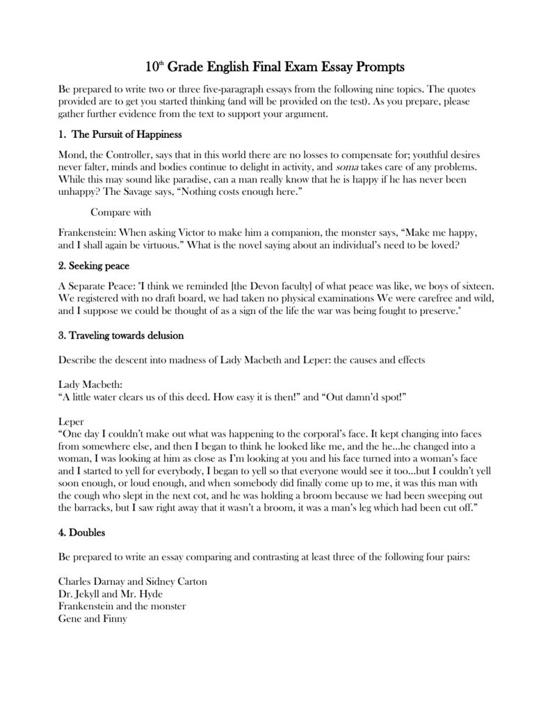 Autonomy essay