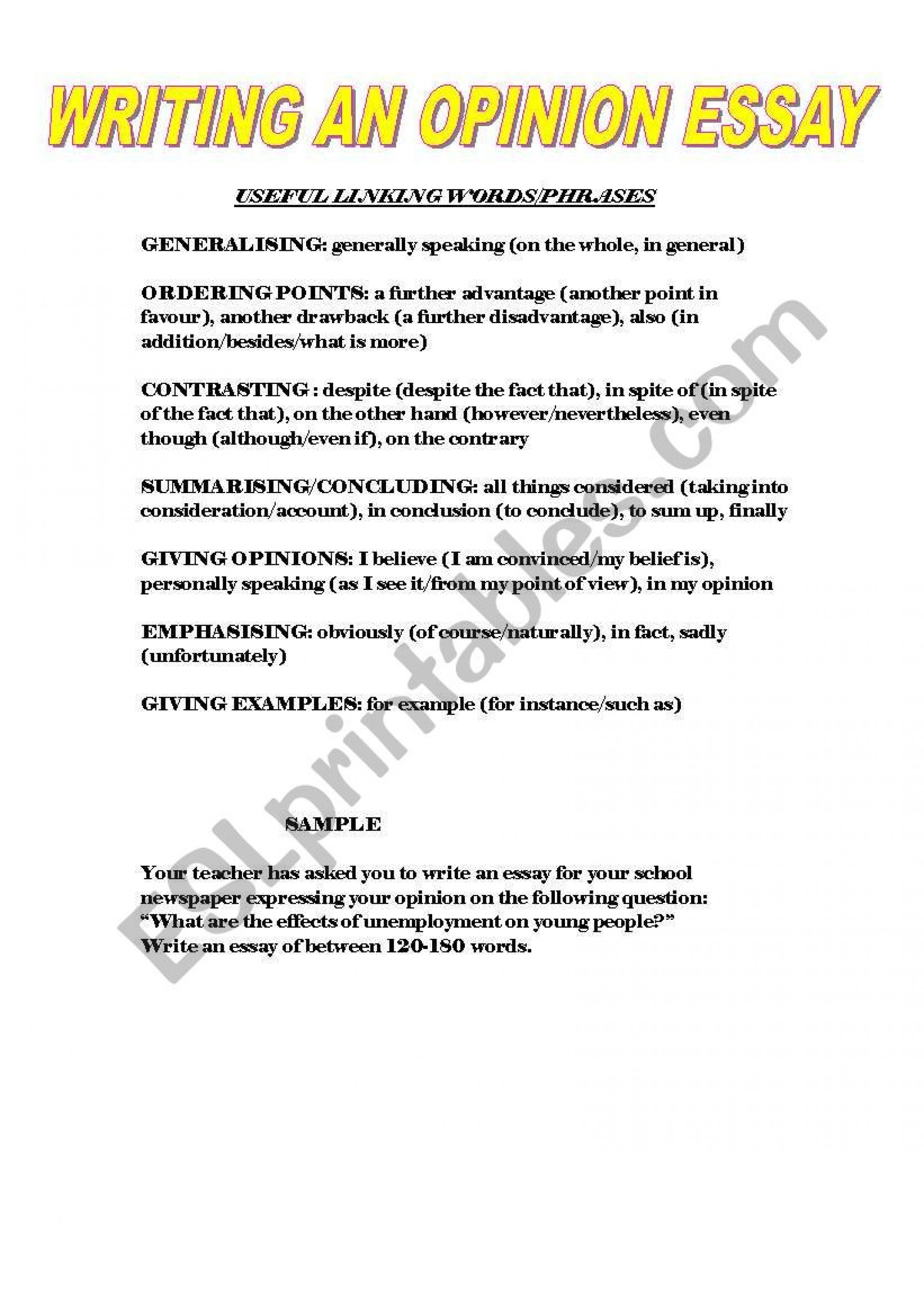 014 49469 1 Writing An Essay Example Magnificent Opinion Prompts 6th Grade Examples 3rd 1920